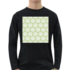 Wood Star Green Circle Long Sleeve Dark T Shirts by Mariart
