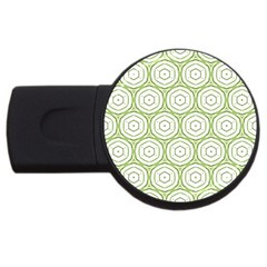 Wood Star Green Circle Usb Flash Drive Round (4 Gb) by Mariart