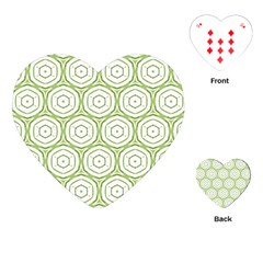 Wood Star Green Circle Playing Cards (heart)  by Mariart