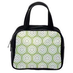 Wood Star Green Circle Classic Handbags (one Side) by Mariart
