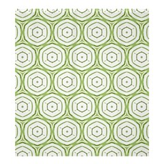 Wood Star Green Circle Shower Curtain 66  X 72  (large)