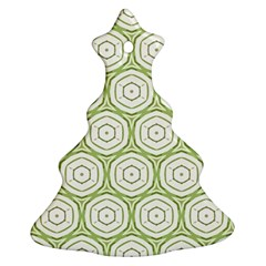 Wood Star Green Circle Ornament (christmas Tree)  by Mariart