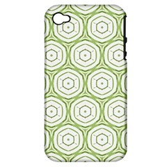 Wood Star Green Circle Apple Iphone 4/4s Hardshell Case (pc+silicone) by Mariart