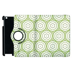 Wood Star Green Circle Apple Ipad 3/4 Flip 360 Case by Mariart