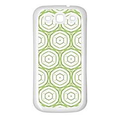 Wood Star Green Circle Samsung Galaxy S3 Back Case (white) by Mariart