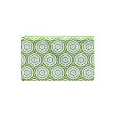 Wood Star Green Circle Cosmetic Bag (xs) by Mariart