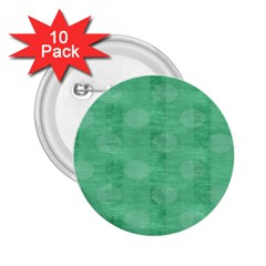Polka Dot Scrapbook Paper Digital Green 2 25  Buttons (10 Pack)