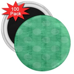 Polka Dot Scrapbook Paper Digital Green 3  Magnets (100 Pack) by Mariart
