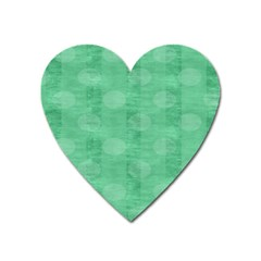 Polka Dot Scrapbook Paper Digital Green Heart Magnet by Mariart