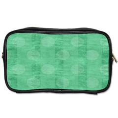 Polka Dot Scrapbook Paper Digital Green Toiletries Bags 2 Side by Mariart