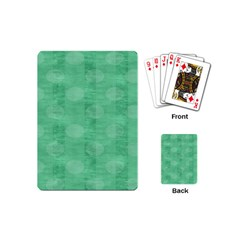 Polka Dot Scrapbook Paper Digital Green Playing Cards (mini)  by Mariart