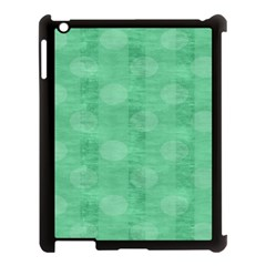 Polka Dot Scrapbook Paper Digital Green Apple Ipad 3/4 Case (black) by Mariart