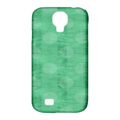 Polka Dot Scrapbook Paper Digital Green Samsung Galaxy S4 Classic Hardshell Case (pc+silicone) by Mariart