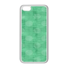 Polka Dot Scrapbook Paper Digital Green Apple Iphone 5c Seamless Case (white) by Mariart