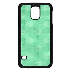 Polka Dot Scrapbook Paper Digital Green Samsung Galaxy S5 Case (black) by Mariart