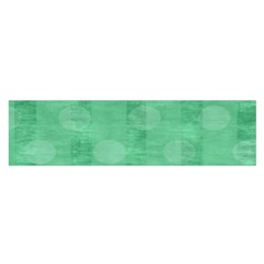 Polka Dot Scrapbook Paper Digital Green Satin Scarf (oblong) by Mariart