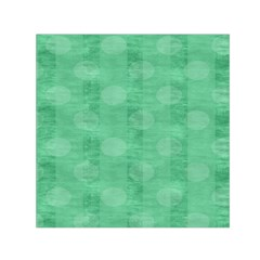 Polka Dot Scrapbook Paper Digital Green Small Satin Scarf (square) by Mariart