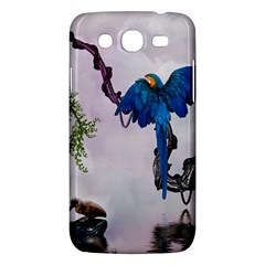 Wonderful Blue Parrot In A Fantasy World Samsung Galaxy Mega 5 8 I9152 Hardshell Case  by FantasyWorld7