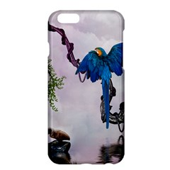 Wonderful Blue Parrot In A Fantasy World Apple Iphone 6 Plus/6s Plus Hardshell Case by FantasyWorld7