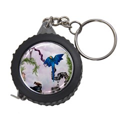 Wonderful Blue Parrot In A Fantasy World Measuring Tapes by FantasyWorld7