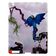 Wonderful Blue Parrot In A Fantasy World Apple Ipad 3/4 Hardshell Case by FantasyWorld7