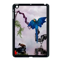 Wonderful Blue Parrot In A Fantasy World Apple Ipad Mini Case (black) by FantasyWorld7