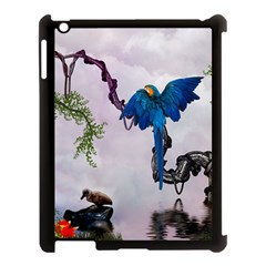 Wonderful Blue Parrot In A Fantasy World Apple Ipad 3/4 Case (black) by FantasyWorld7