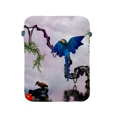 Wonderful Blue Parrot In A Fantasy World Apple Ipad 2/3/4 Protective Soft Cases by FantasyWorld7