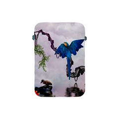 Wonderful Blue Parrot In A Fantasy World Apple Ipad Mini Protective Soft Cases by FantasyWorld7
