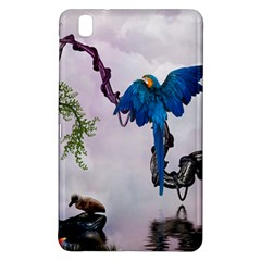 Wonderful Blue Parrot In A Fantasy World Samsung Galaxy Tab Pro 8 4 Hardshell Case by FantasyWorld7