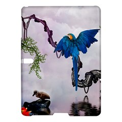 Wonderful Blue Parrot In A Fantasy World Samsung Galaxy Tab S (10 5 ) Hardshell Case  by FantasyWorld7