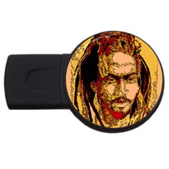 Bunnylinear Usb Flash Drive Round (4 Gb) by PosterPortraitsArt