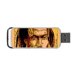 Bunnylinear Portable Usb Flash (one Side) by PosterPortraitsArt