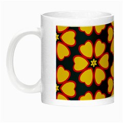 Yellow Flowers Pattern         Night Luminous Mug by LalyLauraFLM