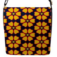 Yellow Flowers Pattern         			flap Closure Messenger Bag (s) by LalyLauraFLM
