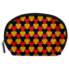 Red Blue Yellow Shapes Pattern        Accessory Pouch by LalyLauraFLM