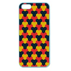 Red Blue Yellow Shapes Pattern       			apple Seamless Iphone 5 Case (color) by LalyLauraFLM