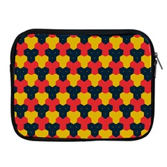 Red Blue Yellow Shapes Pattern       			apple Ipad 2/3/4 Zipper Case by LalyLauraFLM