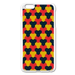 Red Blue Yellow Shapes Pattern       			apple Iphone 6 Plus/6s Plus Enamel White Case by LalyLauraFLM