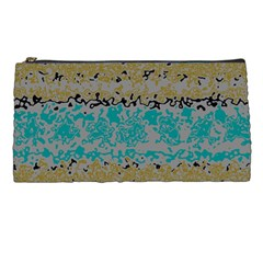 Blue Brown Waves       	pencil Case by LalyLauraFLM