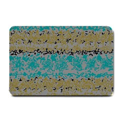Blue Brown Waves       			small Doormat by LalyLauraFLM