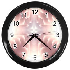 Neonite Abstract Pattern Neon Glow Background Wall Clocks (black) by Nexatart
