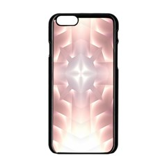 Neonite Abstract Pattern Neon Glow Background Apple Iphone 6/6s Black Enamel Case by Nexatart