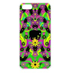 Jungle Life And Apples Apple Iphone 5 Seamless Case (white) by pepitasart