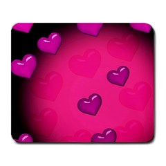 Pink Hearth Background Wallpaper Texture Large Mousepads by Nexatart