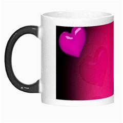 Pink Hearth Background Wallpaper Texture Morph Mugs by Nexatart