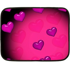 Pink Hearth Background Wallpaper Texture Double Sided Fleece Blanket (mini)