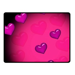 Pink Hearth Background Wallpaper Texture Fleece Blanket (small) by Nexatart