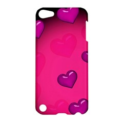 Pink Hearth Background Wallpaper Texture Apple Ipod Touch 5 Hardshell Case by Nexatart