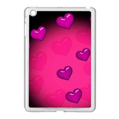 Pink Hearth Background Wallpaper Texture Apple Ipad Mini Case (white) by Nexatart
